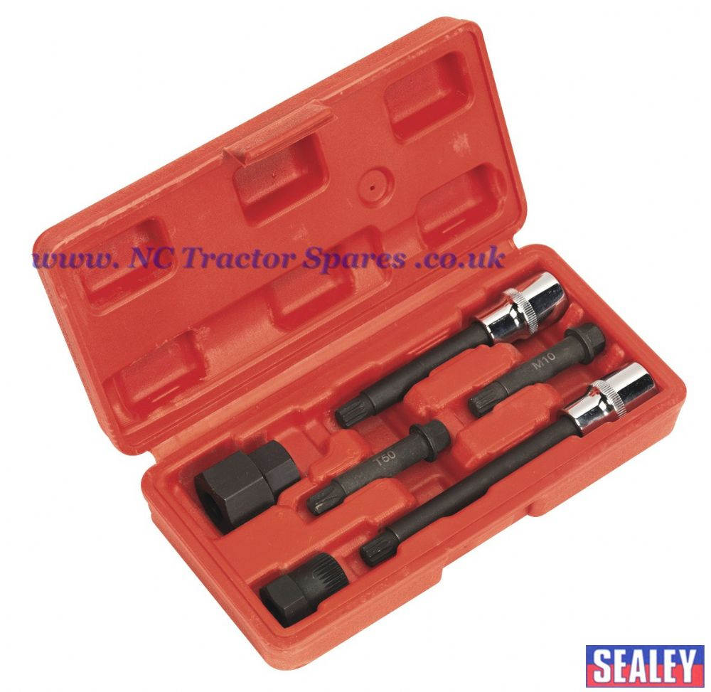 Alternator Freewheel Pulley Removal Set 6pc